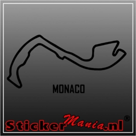 Monaco circuit sticker