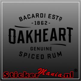 Bacardi oakheart sticker