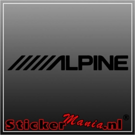 Alpine sticker