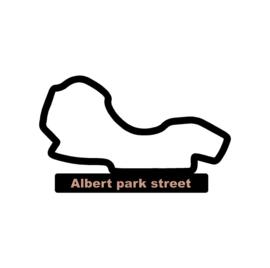 Albert park straat op voet