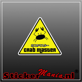Crab Master Full Colour sticker