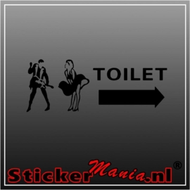 Toilet rock sticker