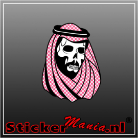 Arab skull full colour sticker