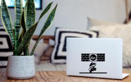 Mario game laptop sticker
