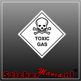 Toxic gas full colour sticker