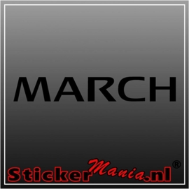Nissan march sticker