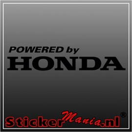 Powered by honda sticker