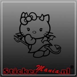 Hello kitty devil sticker