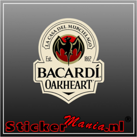 Bacardi oakheart full colour sticker