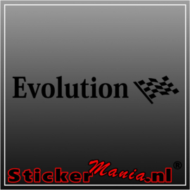 Evolution rims sticker