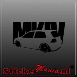Volkswagen golf mk4 sticker