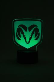 Dodge ram logo led lamp