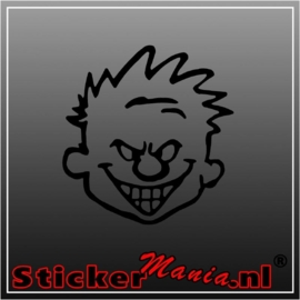 Calvin mad face sticker