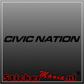 Civic nation raamstreamer sticker