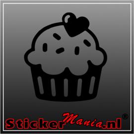 Cup cake sticker