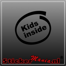 Kids inside sticker