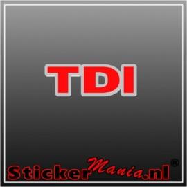 Volkswagen TDI chroom/rood sticker