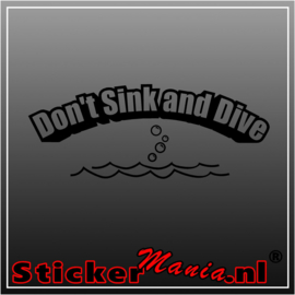 Don't sink and dive sticker