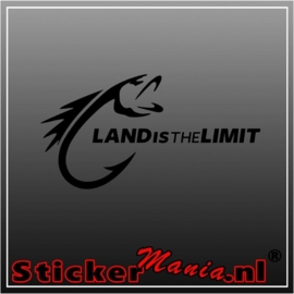 Land is the limit sticker
