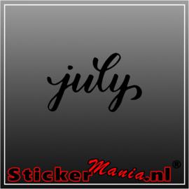 July sticker