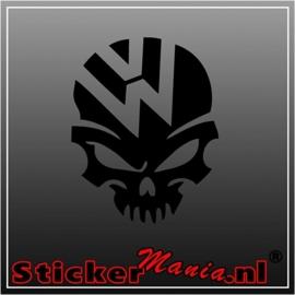 Volkswagen skull 3 sticker