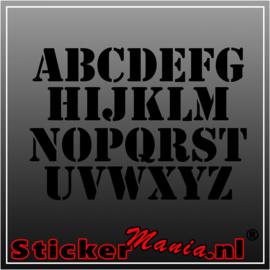 Eigen tekst lettertype Stencil