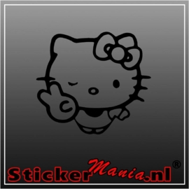 Hello kitty peace sticker