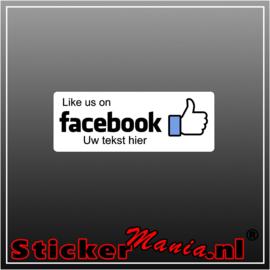 Like us on Facebook met eigen tekst