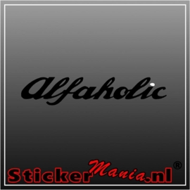 Alfaholic sticker