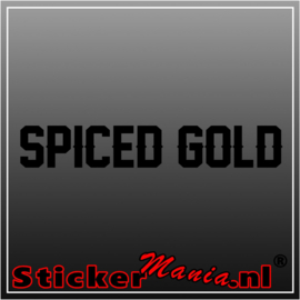 Captain Morgan spiced gold sticker