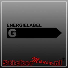 Energy label G sticker