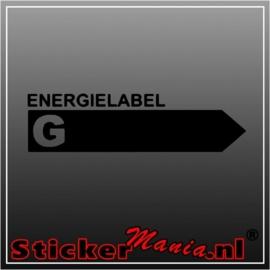 Energy label G sticker