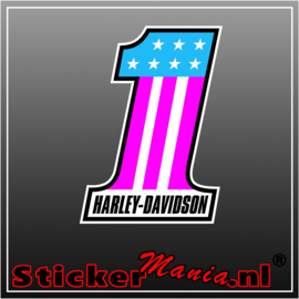 Harley davidson number one Full Colour sticker