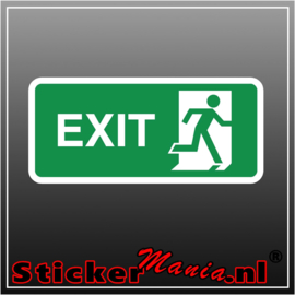 Exit rechts full colour sticker
