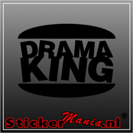 Drama king sticker