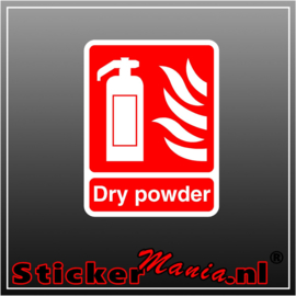 Brandblusser dry power full colour sticker