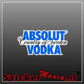 Absolut vodka Full Colour sticker