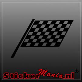 Enkele vlag 4 sticker