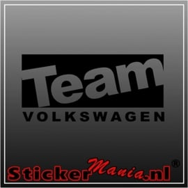 Team volkswagen sticker
