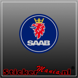 Saab Logo Full Colour sticker