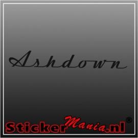 Asdown sticker