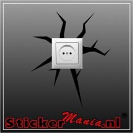 Scheur stopcontact sticker