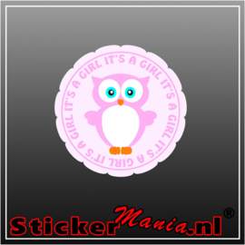 It's a girl geboorte sticker 1