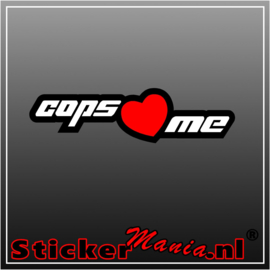 Cops Love Me Full Colour sticker