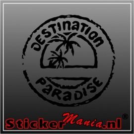 Destination paradise sticker