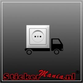 Vrachtwagen stopcontact sticker
