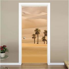 Oase woestijn deur sticker