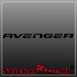 Dodge avenger sticker