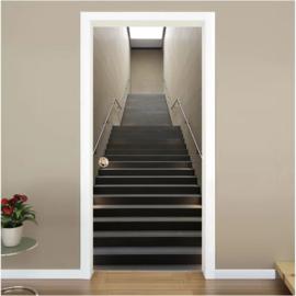 Trap naar boven deur sticker