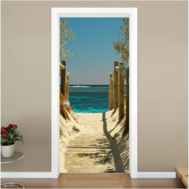 Strand deur sticker